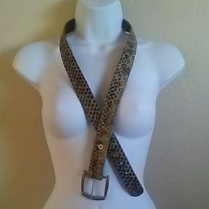 Vintage Snake Skin Belt
